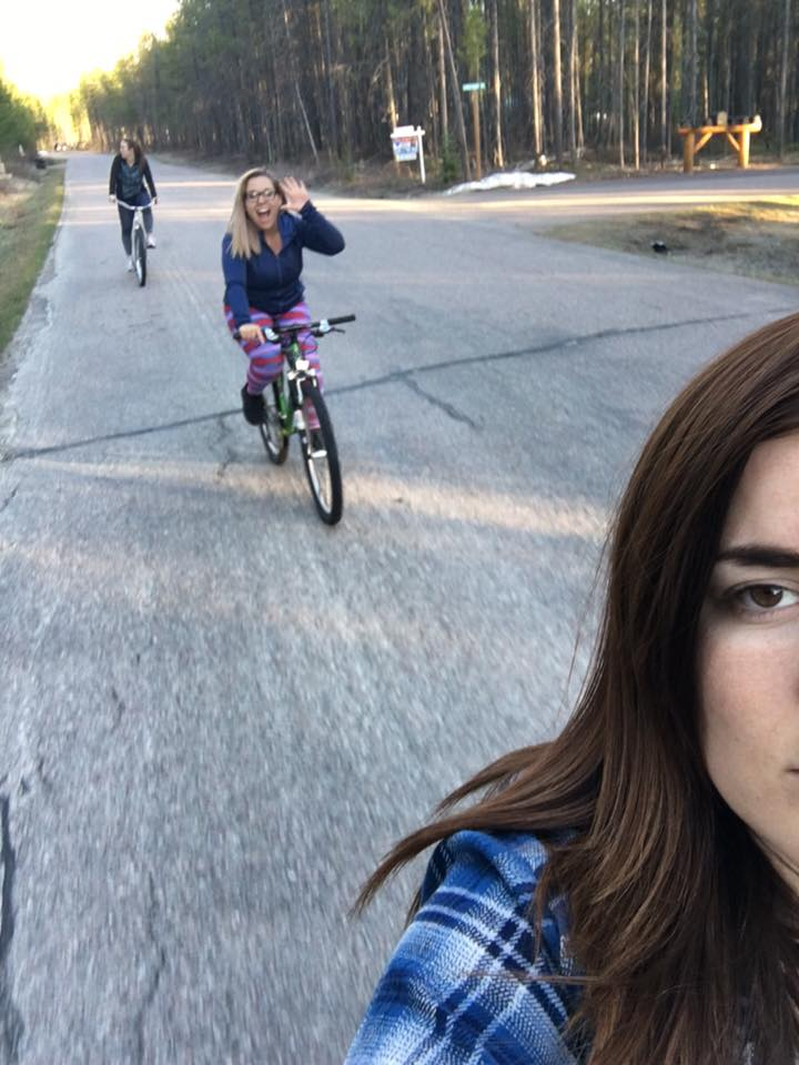 no one understands how hard it was to take a damn selfie with all of us in it while riding our bikes -__- so I gave up, but this one was too funny not to share