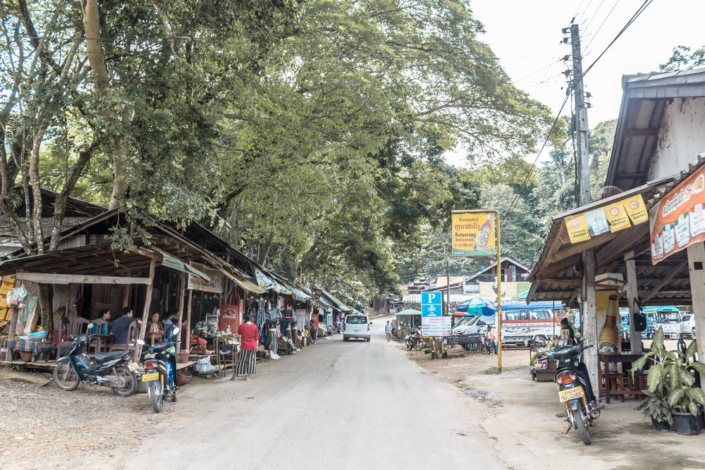 VIEW FROM THE ENTRANCE OF THE VILLAGE TO KUANG SI