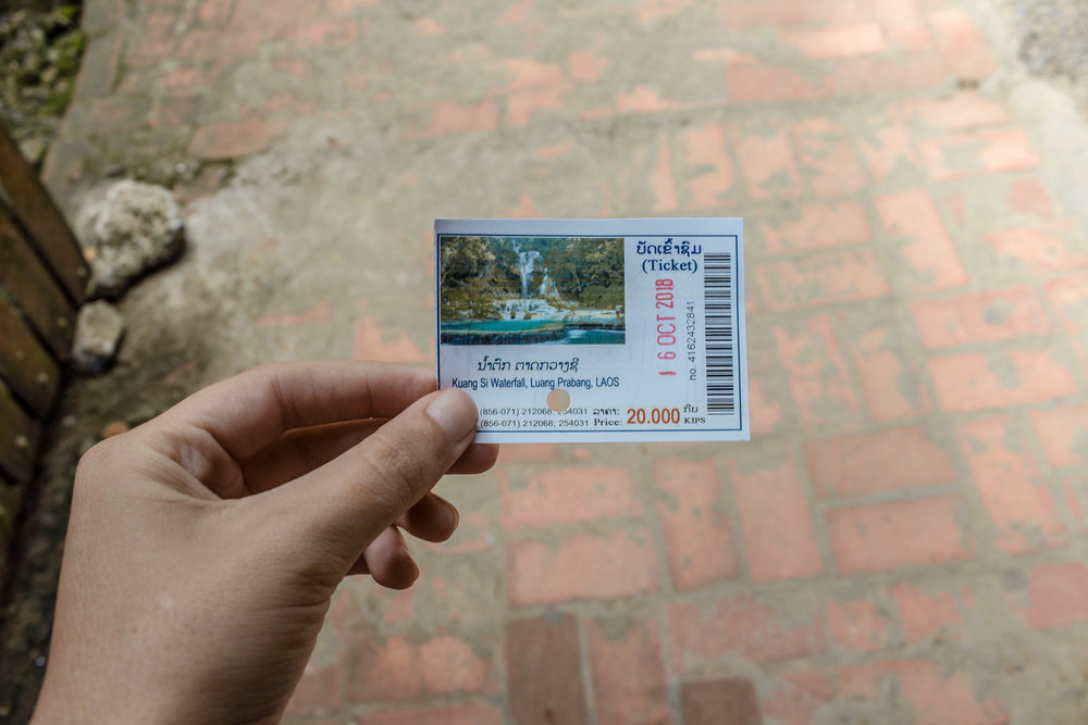 ENTRANCE TICKET TO KUANG SI