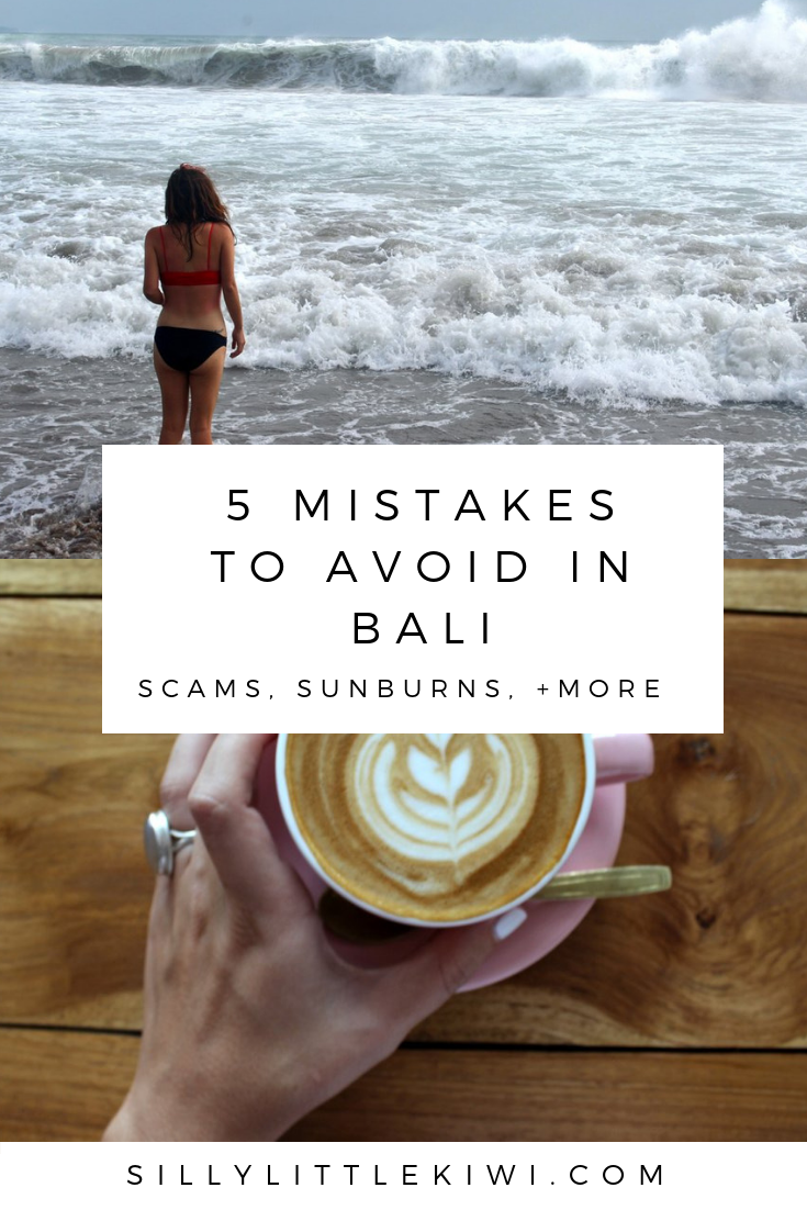 5 mistakes to avoid in bali