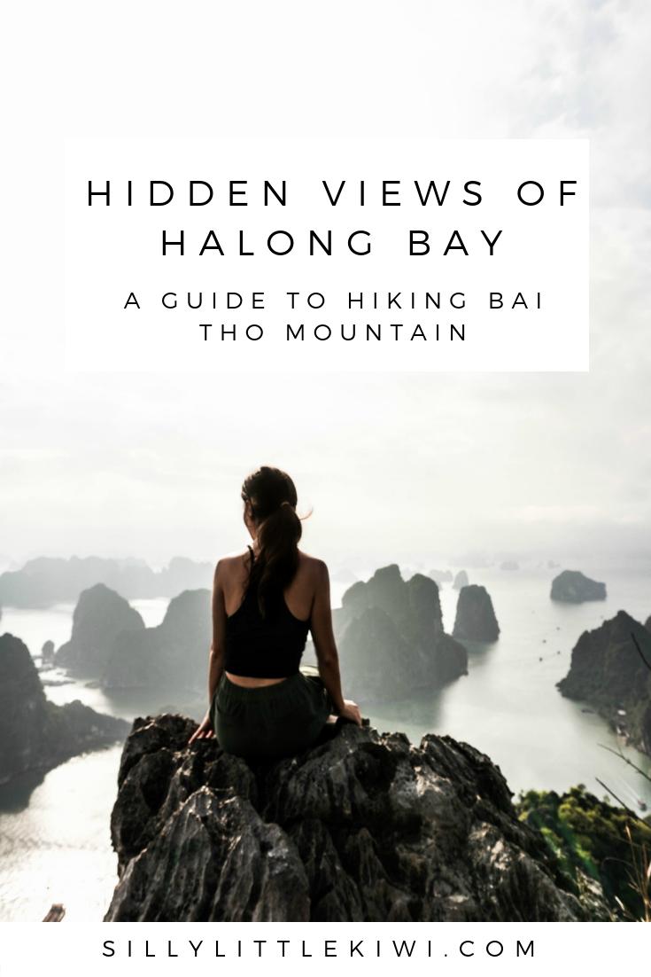 a guide to hiking bai tho mountain for views of Ha Long Bay