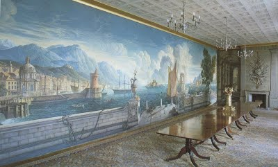 Whistler's dining room mural at Plas Newydd, Anglesey.