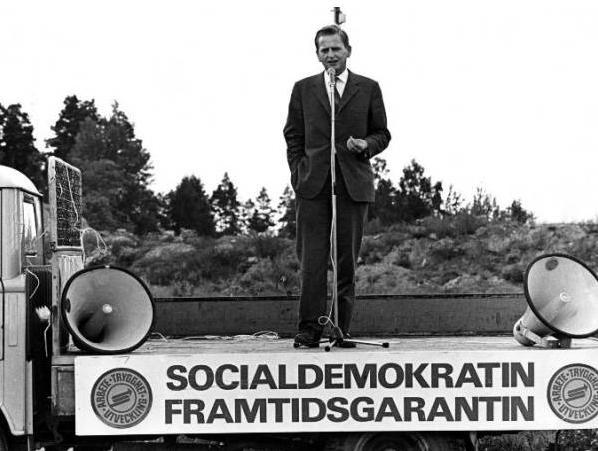 'Social Democracy: Your Future Guarantee.' Olof Palme in Gotland, 1968.
