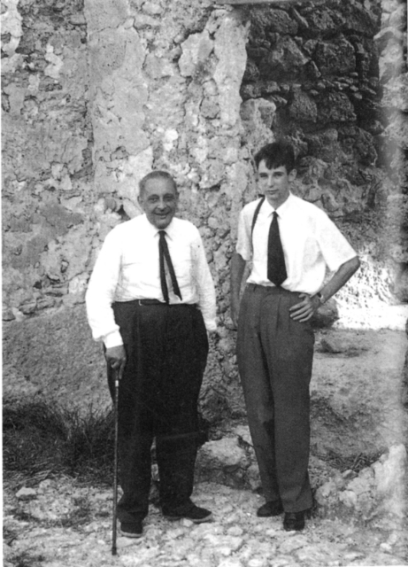 Fig. 68: Giuseppe Tomasi di Lampedusa and Gioacchino Lanza Tomasi in the ruined castle of Montechiaro, Sicily. 