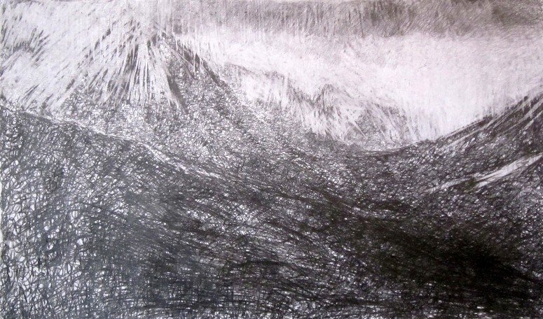 8_The_Saddle_from_glen_Rosa_Isle_of_Arran_Graphite_on_paper_125_x_75_cm.jpg