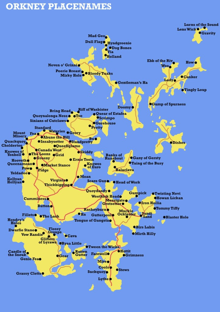 Detailed Map Of Scottish Islands