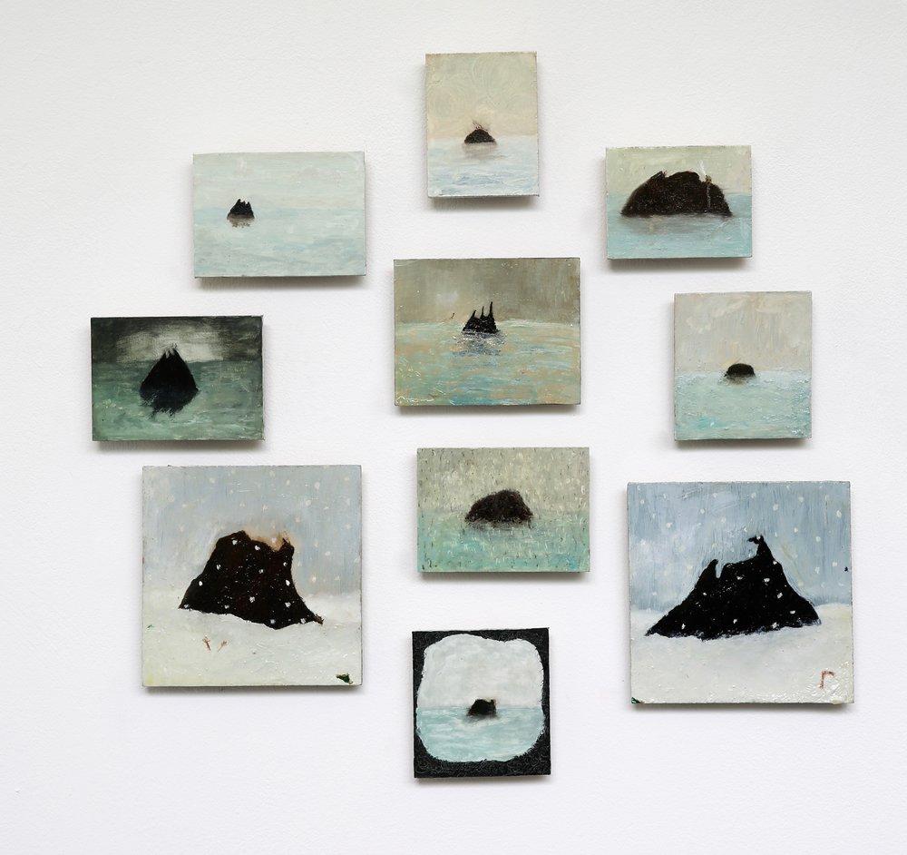 Izzy Thomson. L'isle Noir Assembly. Oil on Board. .jpg