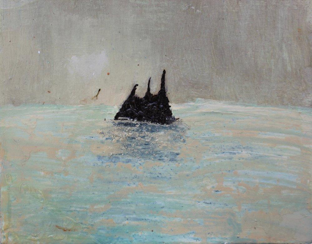 Izzy Thomson. A L'isle Noir Panel.  Oil on board.jpg