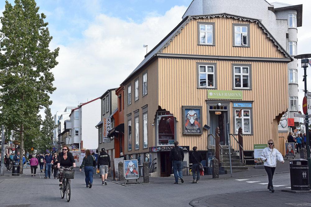 Laugavegur, Reykjavik. Photo:  Harvey Barrison  CC 2.0