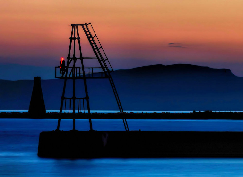 Dusk at Ardrossan Harbour. Credit Oliver Clarke CC 2.0. https://www.flickr.com/photos/oliver_clarke/14197093923/