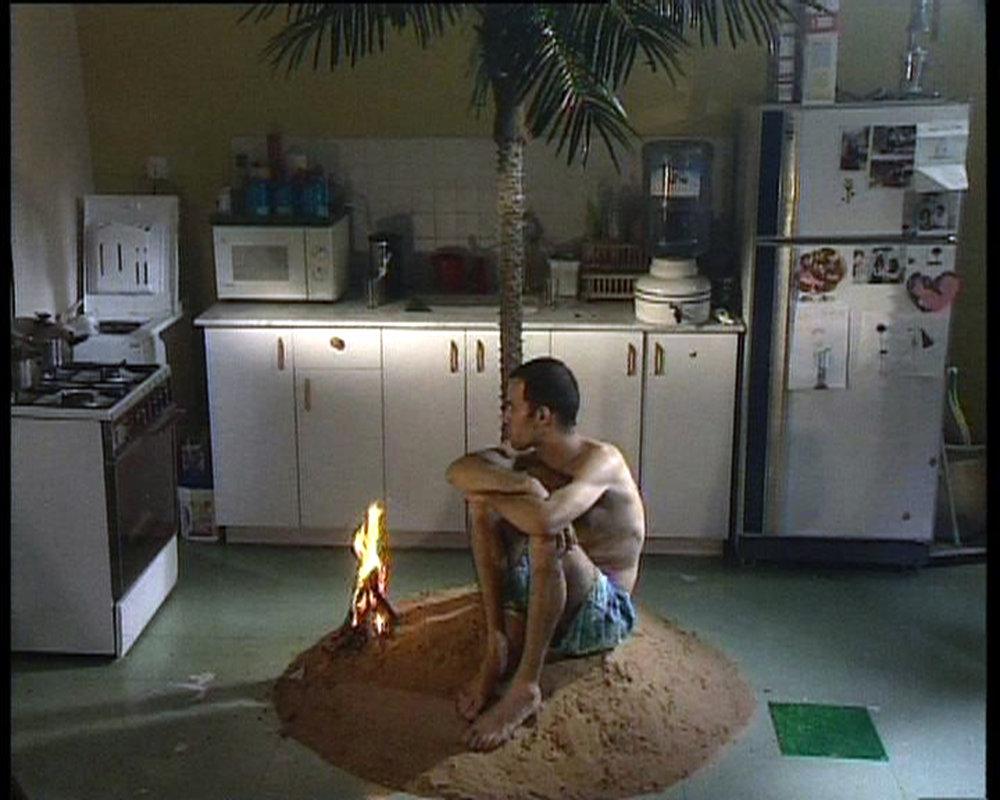 Guy Ben Ner, Berkley's Island, (1999) still from video. Credit Image courtesy of Guy Ben Ner and Sommer Contemporary Art, Tel Aviv