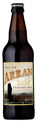Image 5: Arran brewery branding for Dark Ale shows a standing stone from Machrie Moor © Arran Brewery