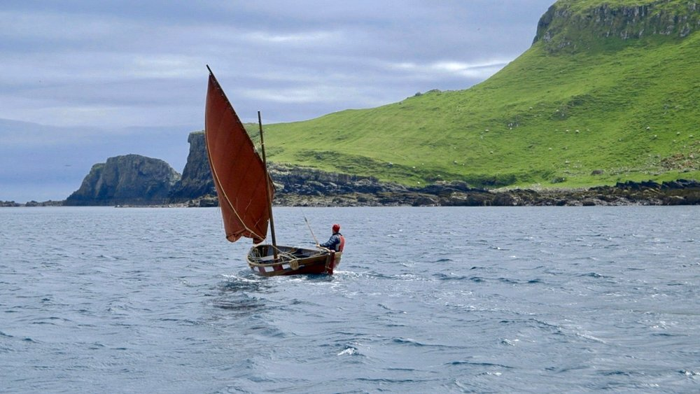 Adam Nicolson off the Shiant Isles, in Scotland's Outer Hebrides. Photo by James Nutt.