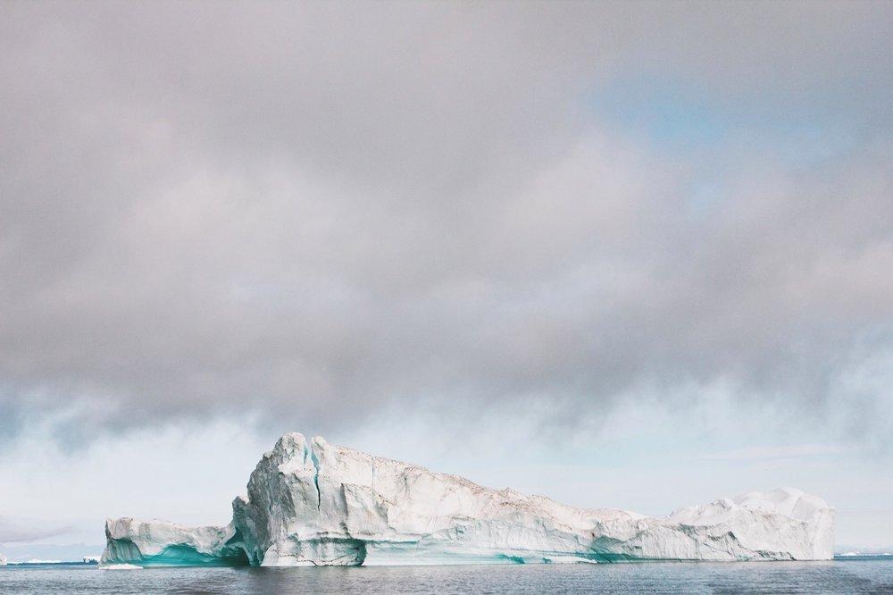 "The Whale"". Icebergs calved by Sermeq Kujalleq. Photo credit: Nancy Forde"