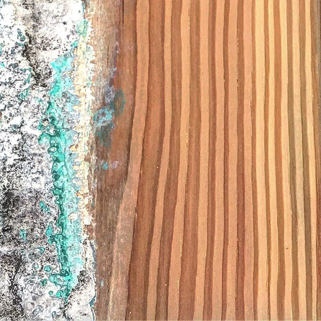 We can't decide what we love more- the years of patina and paint or the way the fresh grain looks after taking it all off. . . . #belleandburl #reclaimedwood #patina #paint #everythingoldisnewagain #handscraped #planed #sanded #board #plank #finefurniture #heart #love #instagram #instagood