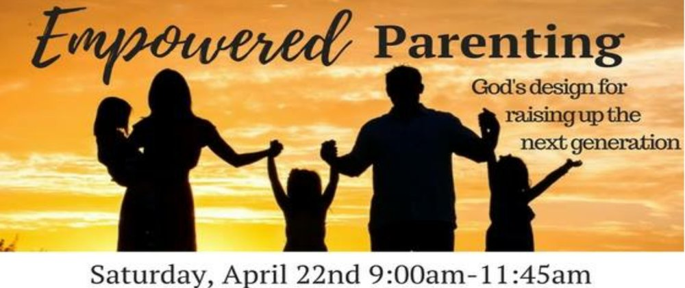 Mark your calendar for this great workshop. This is open to our church as well as our communities. Feel free to invite a friend.