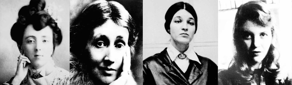 LUCY MAUD MONTGOMERY                                    VIRGINIA WOOLF                                                         CHRISTIANE PFLUG                                                       SYLVIA PLATH