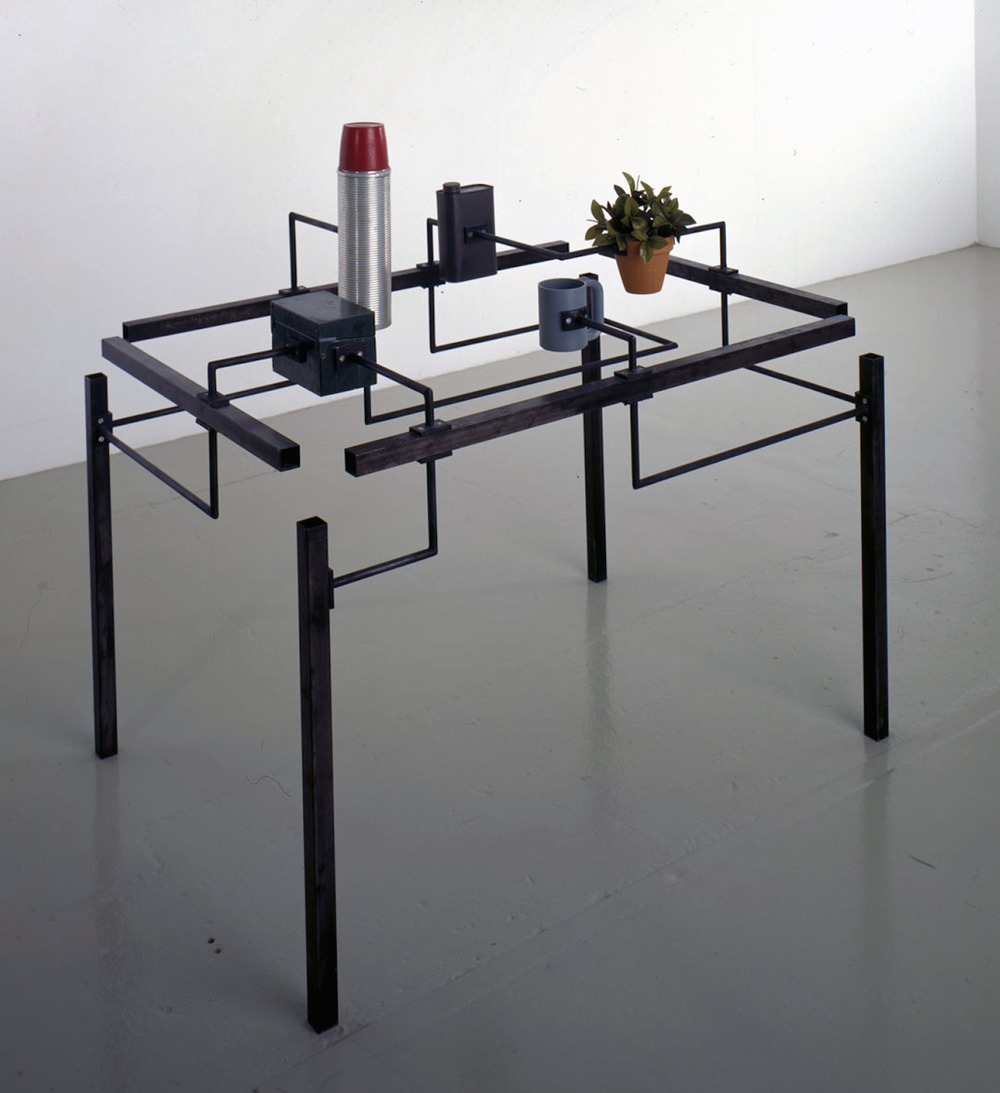 Charles Ray, How a Table Works, mixed media, 1986