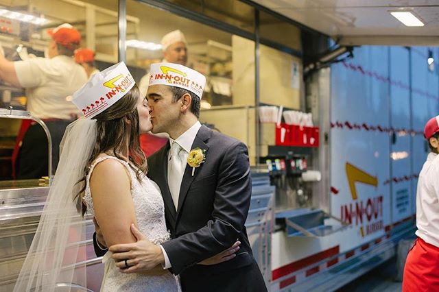 Did you know today In-N-Out Burger celebrates 70 years of burgers? Is there anything better than seeing this truck at a wedding?!