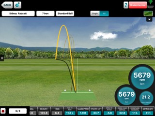 Measuring your golf shots and getting immediate feedback!