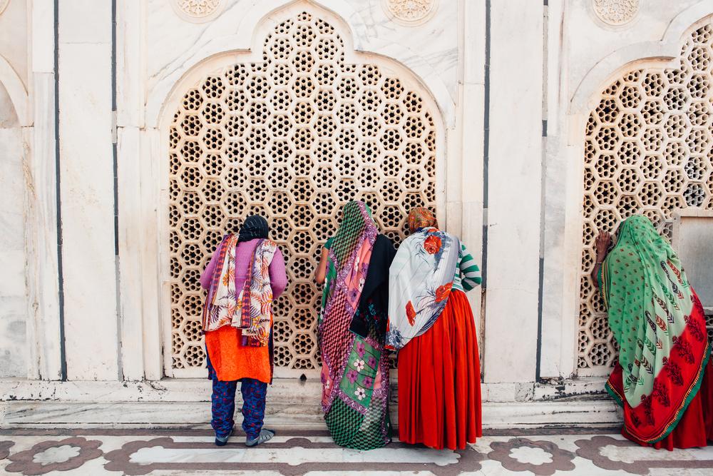 """Deepi Ahluwalia, Agra Women, 22"""" x 26"""""""