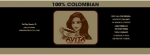 100% Ground Colombian Coffee - Avita Coffee - Whole Bean Colombian Coffee