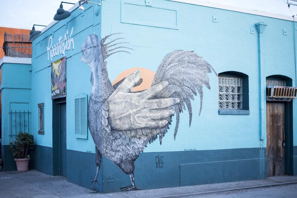 Pendulum Magazine Abbot Kinney Boulevard Street Mural RoosterFish