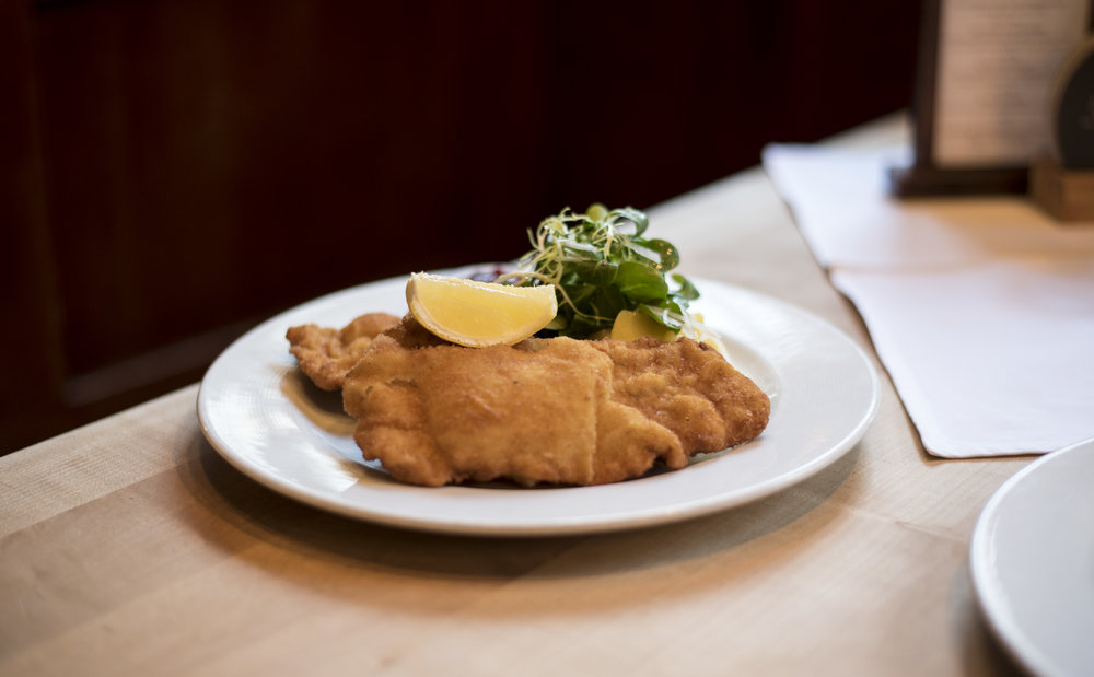The Wiener Schnitzel with the best texture we have ever come across.