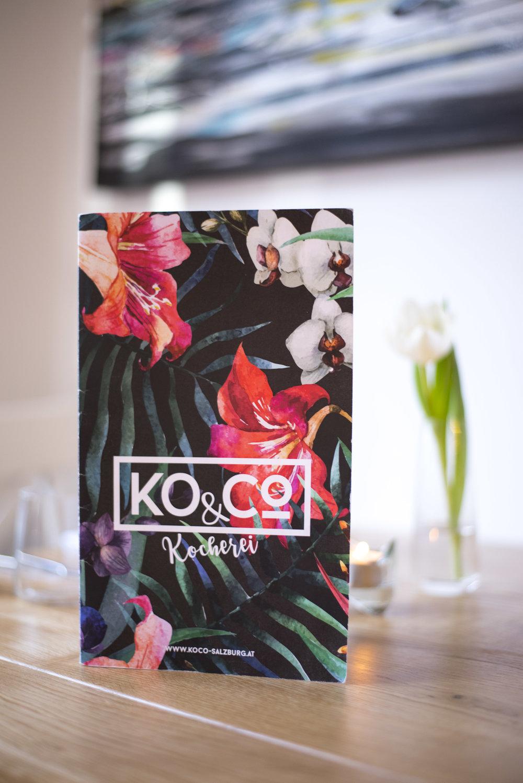KO.CO's colourful menu.