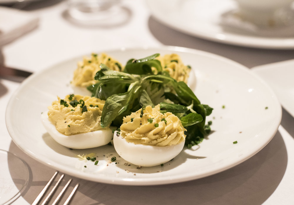 The world's best deviled eggs.