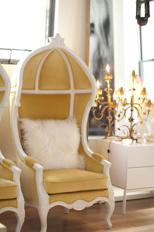 Goldleaf chair by Mexico-based designer Pedro Friedeberg.