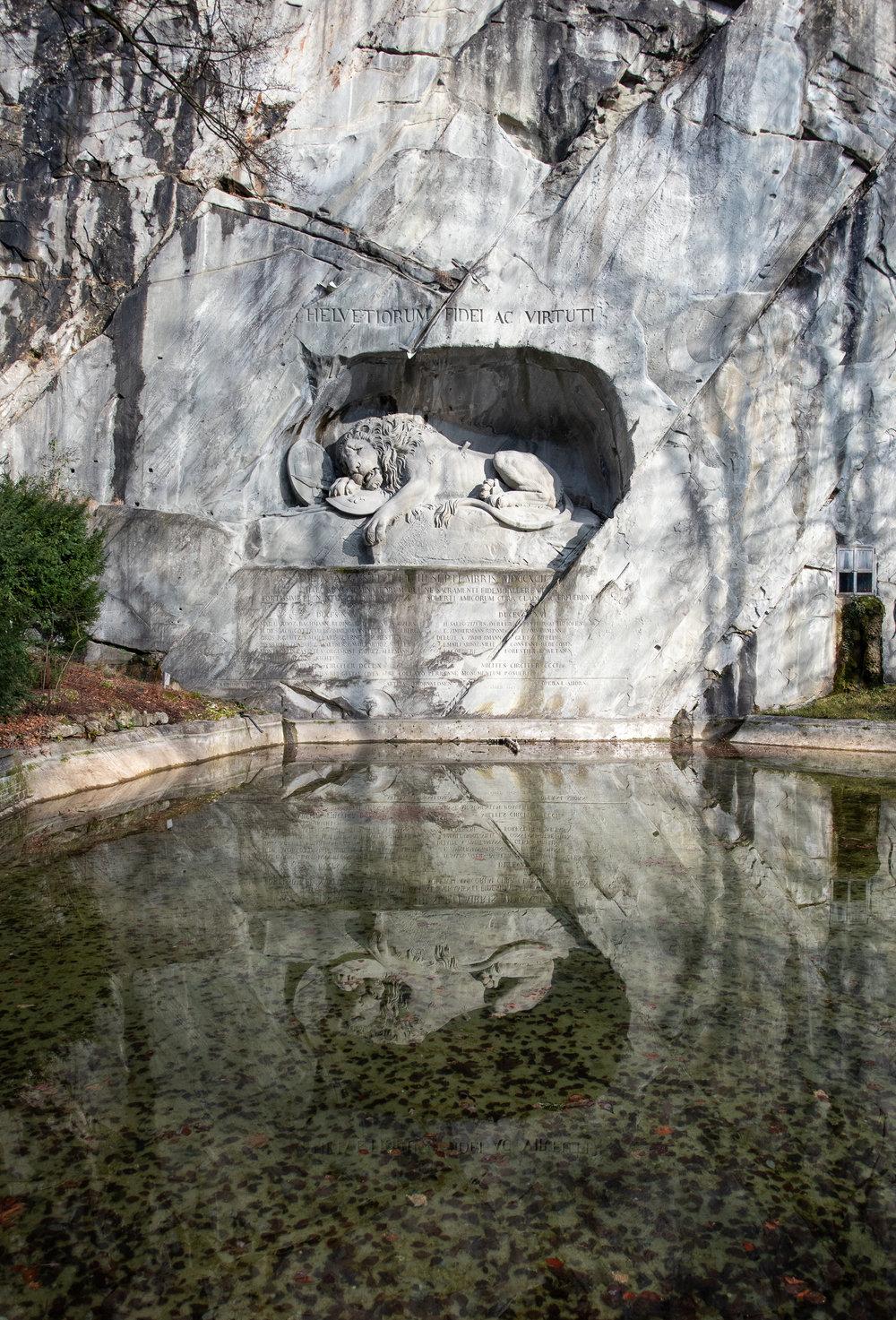 A Day in Switzerland Lion Monument X Pendulum Magazine