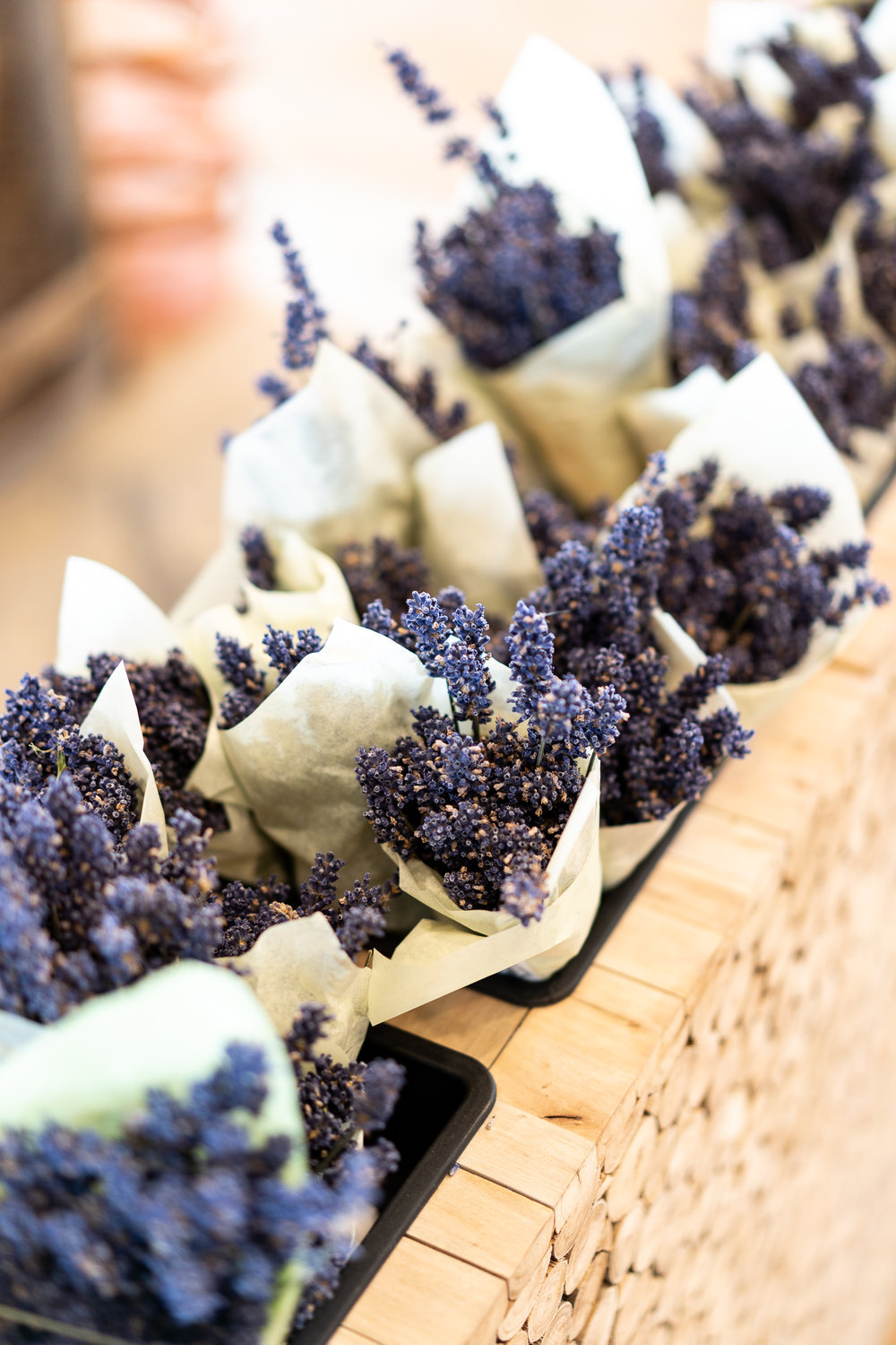 Fresh lavender bushels you can buy to treat yourself.