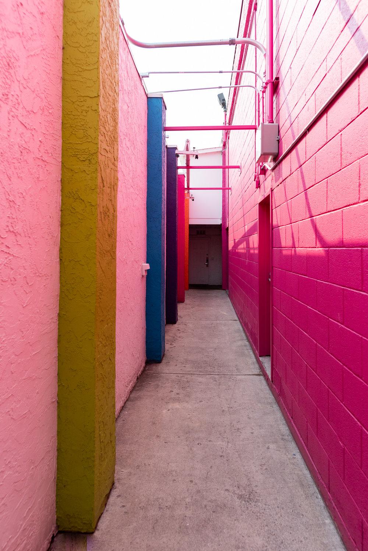 Colourful passageways.