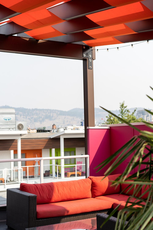 Rooftop patio overlooking City Park.
