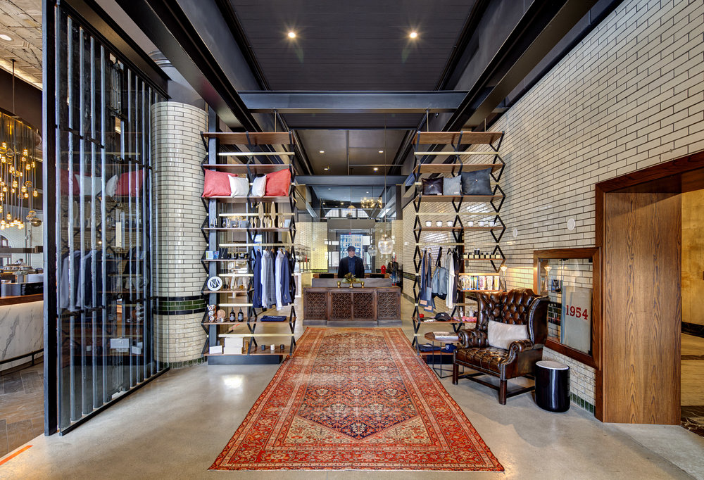 The retail space at The Detroit Foundation Hotel.