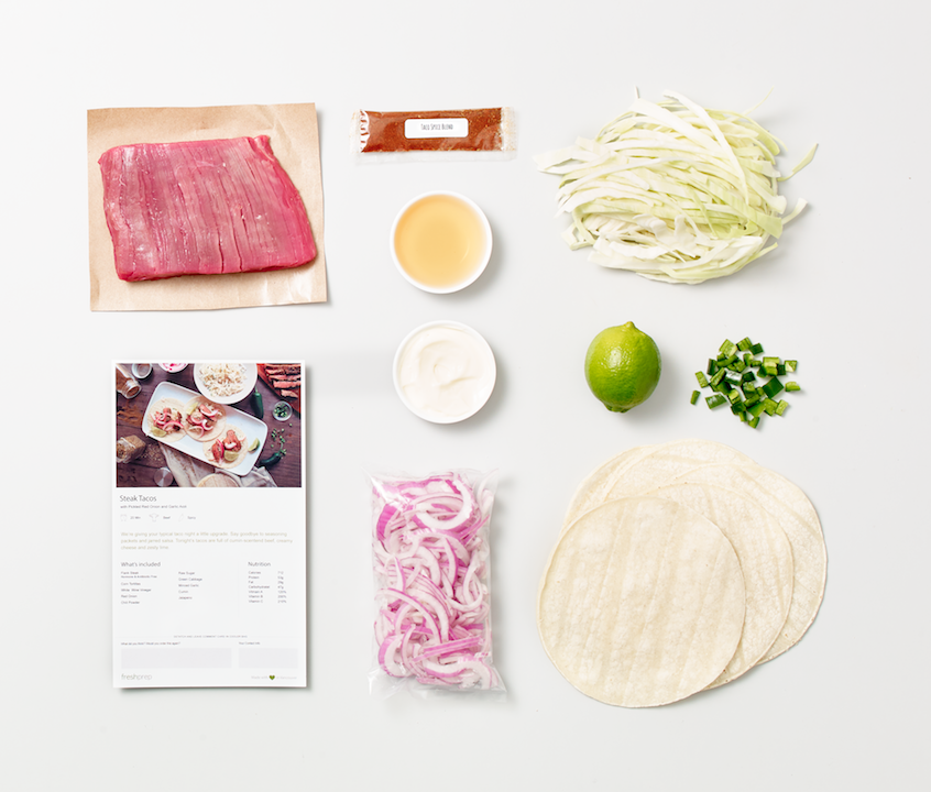 Easy does it. Simply follow the instructions with the pre-measured ingredients to cook up a tasty meal.