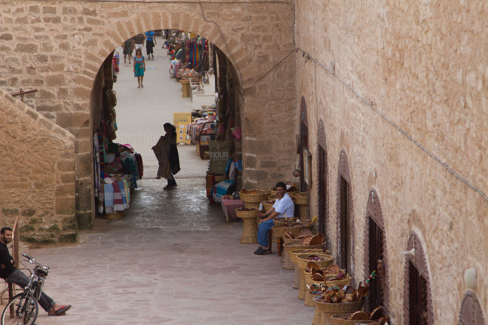 Part of the old fort was converted into tourist stalls selling souvenirs