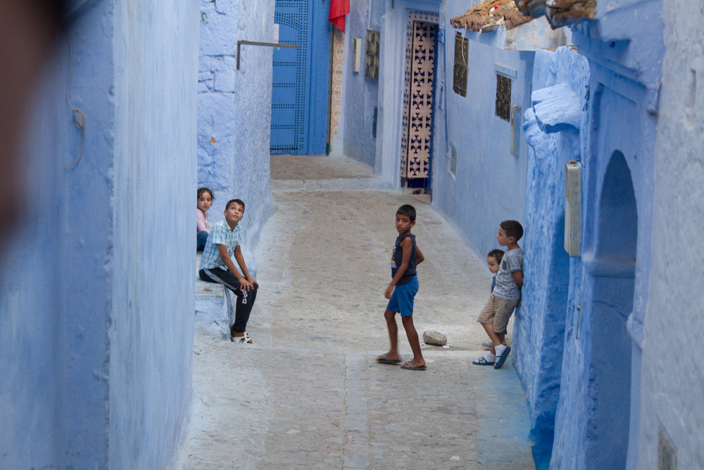 Children playing in the residential neighbourhood