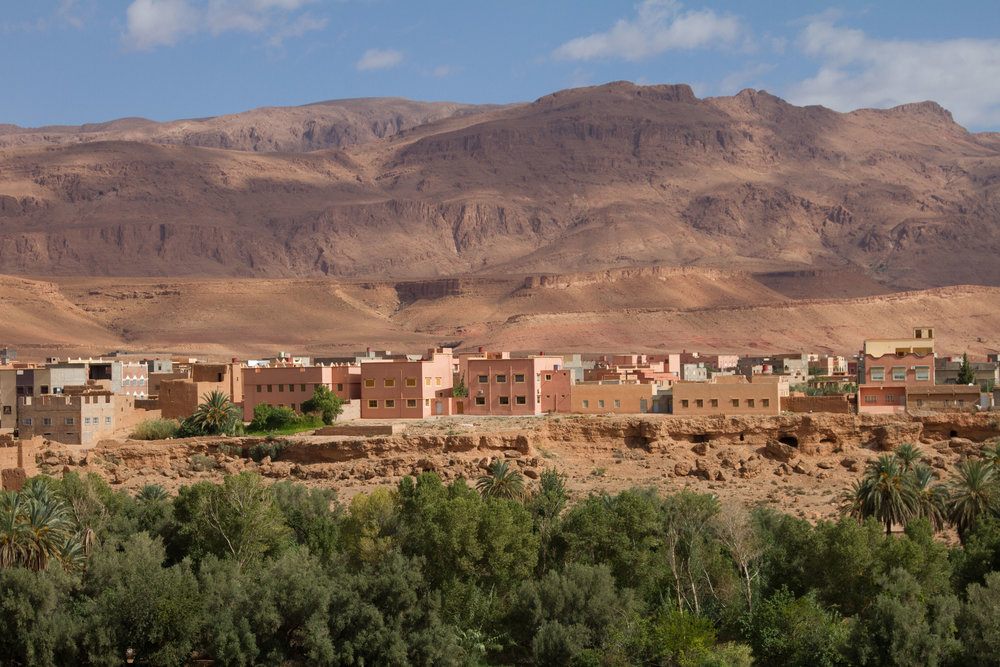 Scene on our drive out to West Sahara