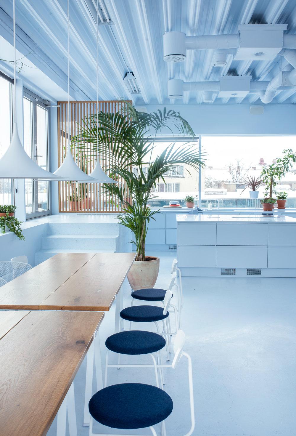 The office kitchen.