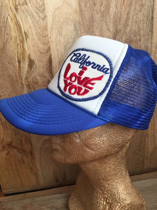 65796f96 California I Love You vintage patch on Trucker Hat