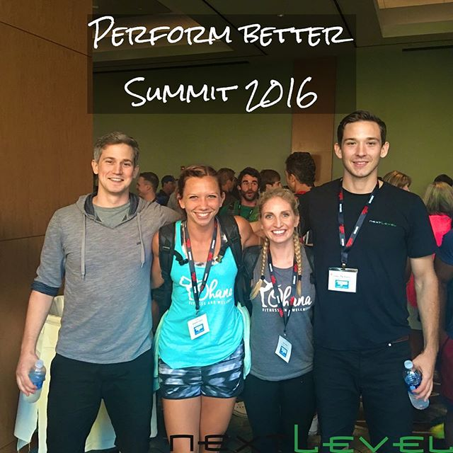 Last weekend in Chicago at the Perform Better 3-Day Functional Training Summit. We learned a ton and even met up with our friends from Ohana Fitness and Wellness!!