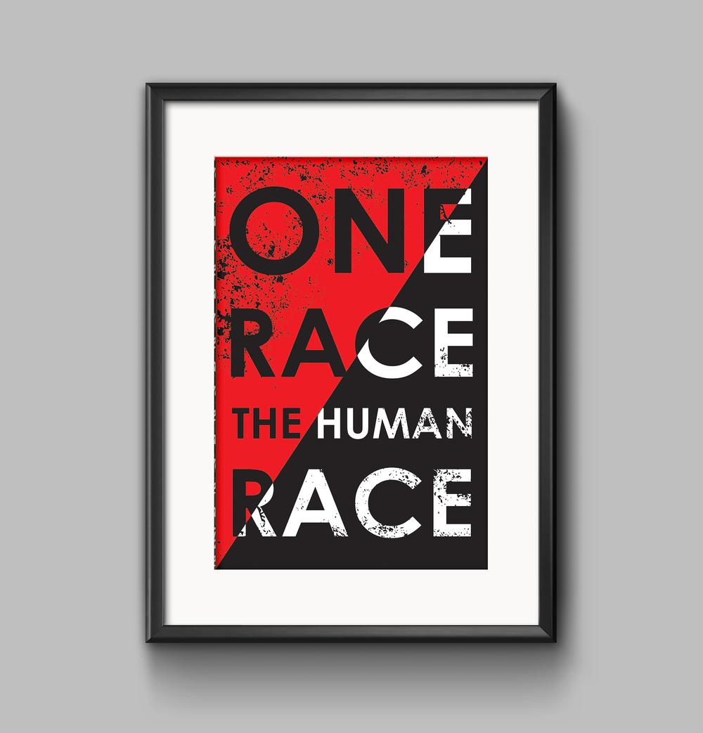 Human Race Poster Stephanie Racale Jackson