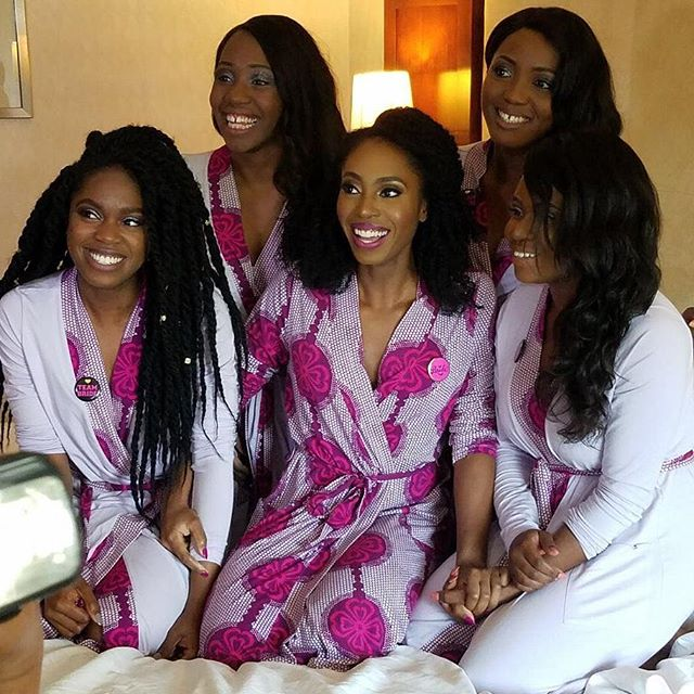 Check us out in our Yeme robes! Got married on 6/1/17 and we got decked out in these beauties. Get yours now at www.yemeapparel.com ---------------------------------------------------------------------------- #bridalparty #bridesmaidsgifts #bride #bridesmaids #wedding #weddingday #makeup #mua #robes #luxury #pimacotton #ankarafashion #emergingdesigner #womenswear #picoftheday #instapic #happy #smiles #blackgirlmagic #hotelroom #nofilter @bdash_mua @ftkkonnect