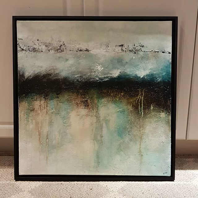 Frame came just in time. Headed off to its new home this weekend. . . .  #kylalynneperry #abstract #abstractexpressionism #acrylicpainting #art #artist #painting #painter #abstractart #abstractartist #abstractpainting #abstractpainter #acrylicpainting #originalart #contemporaryart #contemporaryartist #modernart #modernartist #instaart #homedecor #interiordesign #decorate #emergingartist #dailyart #intuitivepainting #artiststudio #intuitiveart #abstractlandscape