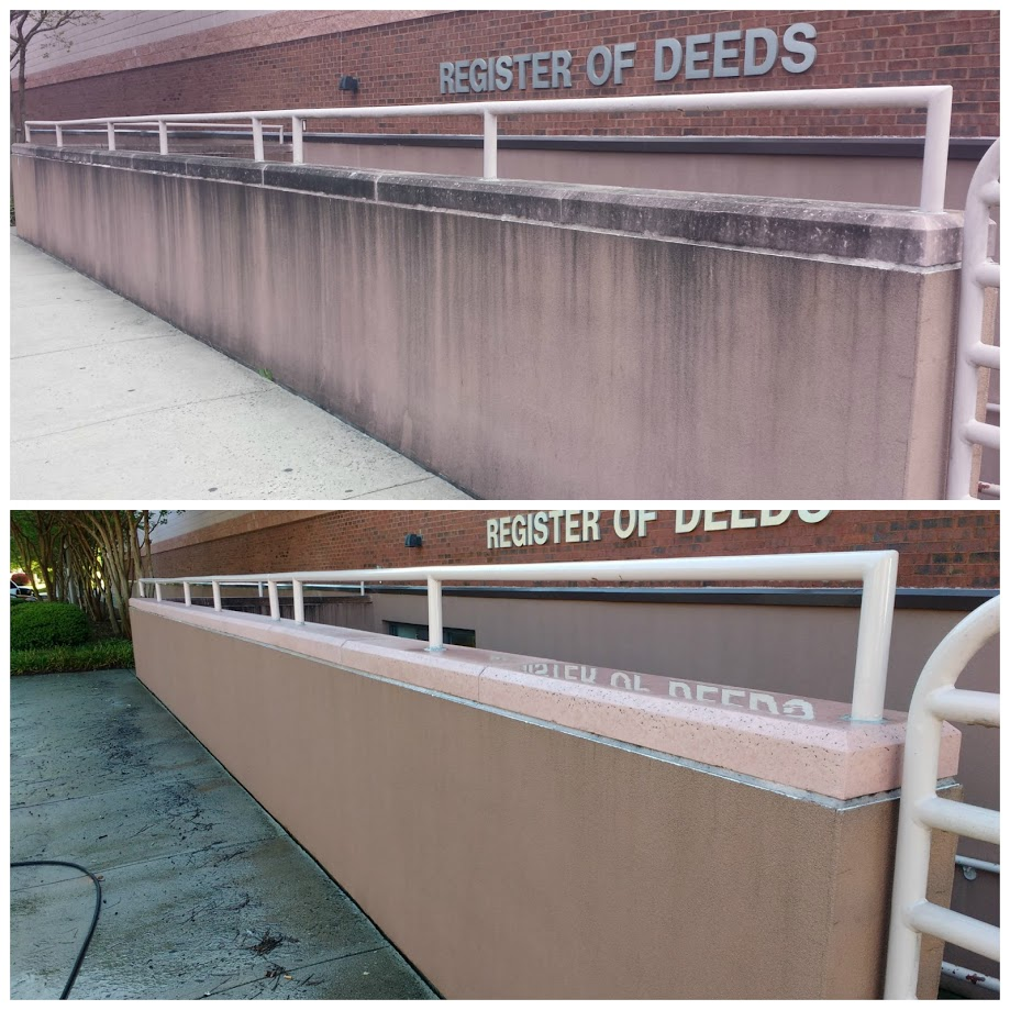 Commercial Pressure Washing in Lexington NC, Davidson County, NC | Before and After