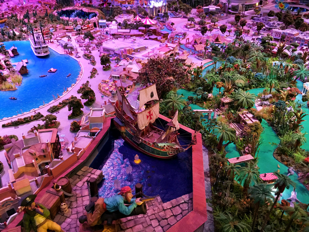 The Walt Disney Family Museum: model map of Disneyland