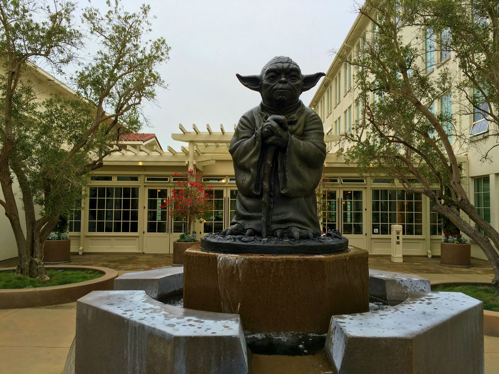 Statue of Yoda, Lucasfilm at the Letterman Digital Arts Centre