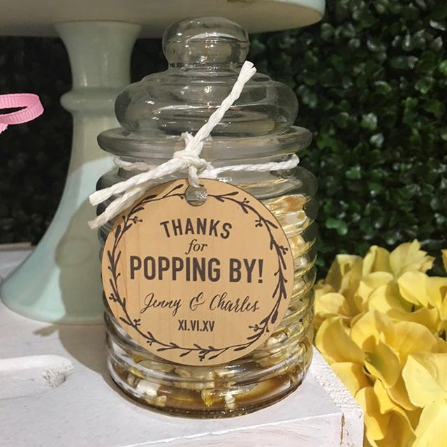 What a cute thank you message! Not only will your guests love eating the popcorn, but they'll be able to use the little jar in their own home afterwards!😍 • • #weddingalchemist #weddingalchemisttips #thingscoachessay #coachinglife #coachingtip #coachingtips #weddingtips #weddingtip #womeninbusiness #womenentrepreneurship #iloveyou #bride #groom #weddings #wedding #springwedding #springtime #spring #mayflowers #weddingseason #aprilwedding #popcorn #thanksforpoppingby #giveaways #popcornbar #weddingideas #weddingplans #weddingplanning